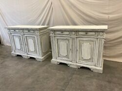 Italian Painted Buffet Cabinets - a Pair