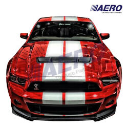 Gt500 Heat Extractor Style Carbon Fiber Hood For 10-14 Mustang Shelby Gt - Aero