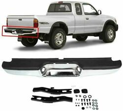 New Chrome Complete Rear Bumper Car Assembly For 1995-2004 Toyota Tacoma Pickup