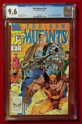 The New Mutants 94 Cgc 9.6 White Wolverine, Sunfire, Stryfe And Mutant Lib. Front