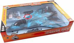 Fighter Jet Black Plane Bomber With Military Soldier Action Figure And Parachute