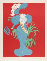 """Robert Indiana, """"lillian Russell"""" - Hand S/n Litho Women's Suffragette Costume"""