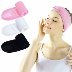 Adjustable Soft Towelling Hair Head Band for MakeUp Facial Salon Spa
