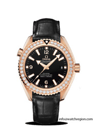 NEW OMEGA 18K RED GOLD SEAMASTER PLANET OCEAN DIAMOND WATCH 232.58.42.21.01.001