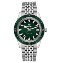 Rado Watch Captain Cook Green Dial Automatic R32505313 100 Authentic