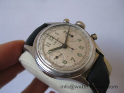 Rare Concord Military Chronograph Watch With Valjoux 23 Movement 35mm Serviced