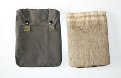 German Army Wwii Original Gas Mask Cape In The Pouch Marked