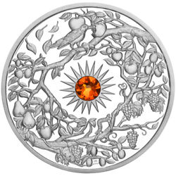 Autumn Niue 5 2017 Silver 2oz Proof 3d High-relief Four Seasons Birds And Fruits