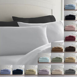 Deluxe Ultra Soft 800 Thread Count 100 Pure Cotton Solid Pillowcases