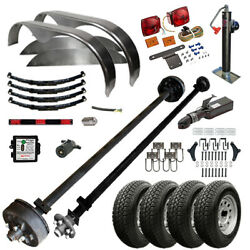 Tk 7k Trailer Kit - Master Plan 1216 - 6and0396 X 16and039 Tandem Axle Lowboy Trailer