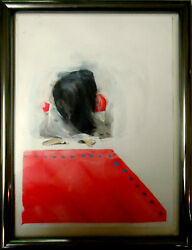 Geoff Todd Andndash Study For Siraneeandrsquos Hair - Original Painting Oil On Paper Andndash Signed