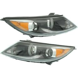 Headlight For 2013-2016 Kia Sportage Driver And Passenger Side Pair