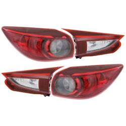 Tail Light For 2014-2016 Mazda 3 Sport Left And Right Set Of 4 Capa