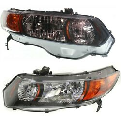 Headlight Lamp Left-and-right Coupe Lh And Rh For Honda Civic Ho2503133 Ho2502133