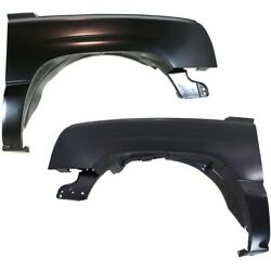 Set Of 2 Fenders Front Left-and-right For Chevy Gm1240305c Gm1241305c Pair