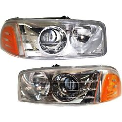 Headlight Lamp Left-and-right For Yukon Gm2503214, Gm2502214 15218077, 15218078