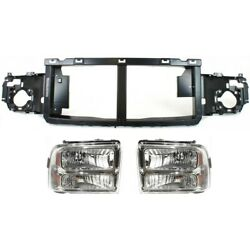 Headlights Lamps Set Of 3 For F250 Truck 6c3z13008ab, 6c3z13008bb, 6c3z8a284a