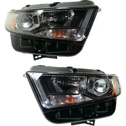 Headlight For 2015-2018 Ford Edge Driver And Passenger Side Pair Capa