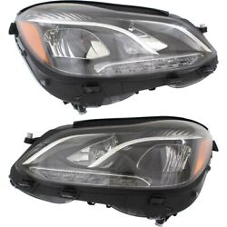MB2502219, MB2503219 Headlight Lamp Left-and-Right for Mercedes E Class Sedan