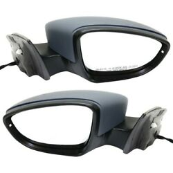 Set Of 2 Mirrors Left-and-right Heated For Vw Vw1321139, Vw1320139 Lh And Rh Pair