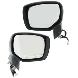 Pair Set Of 2 Mirrors Left-and-right Heated Lh And Rh For Subaru Forester 14-18