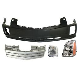 Bumper Cover Kit For 2006-2009 Cadillac Srx Front With Headlight Washer Holes