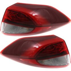 Set Of 2 Tail Lights Lamps Left-and-right Outside Hy2804138 Hy2805138 Pair
