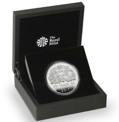 2017 Royal Mint Platinum Wedding Five-ounce Silver Proof Andpound10 Coin +coa