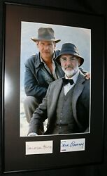 Harrison Ford Vintage Sean Connery Psa Indiana Jones Signed Index Autographs