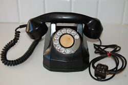 Vintage Art Deco Automatic Electric Monophone Rotary Dial Black Model N 4023 A0