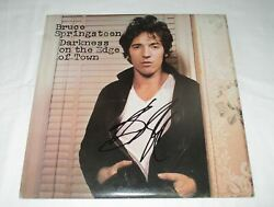 Bruce Springsteen Signed Darkness On The Edge Of Town Vinyl Record Jsa