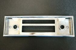 Blaupunkt Frankfurt Z Or Y Face Plate Chrome Trim Only For Mercedes Cars