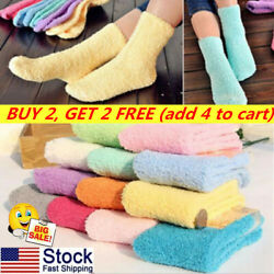 Soft Thick Floor Socks Fuzzy Hosiery Cute Slipper Socks Warm 10 Candy Colors