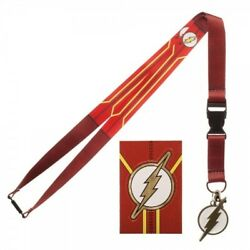 Dc Comics The Flash Suit Up Neck Lanyard Id Badge Holder Keychain Tv Show New