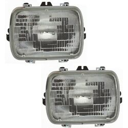 Headlight Lamp Left-and-right For Chevy S10 Pickup S-10 Blazer Suburban 2000