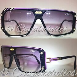 Cazal 867 col. 648 (Lilac + SilverBlack) made in W. GERMANY ('80s) NOS