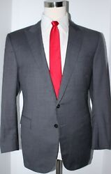 Black Label Gray Puppytooth 2 Button Side Vented Suit 42 Reg 36 30
