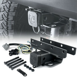 Steel 2 In Rear Towing Trailer Hitch Receiver Harness For 07-18 Jeep Wrangler Jk