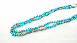 Vintage Native American Sterling Silver Blue Turquoise Heishi Necklace