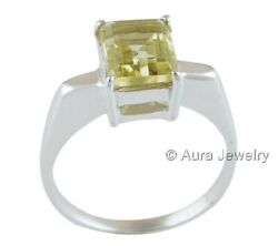Lemon Topaz Gemstone Solid 925 Sterling Silver Engagement Ring Jewelry R1730-1