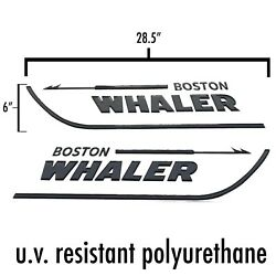 Boston Whaler Decals 28.5 X 6 Raised 3d Domed Stickers Both Sides