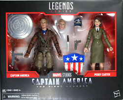 Marvel Legends Captain America And Peggy Carter Exclusive Action Figure Set