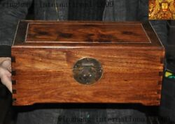 15antique China Huanghuali Wood Dynasty Jewelry Vessel Box Storage Chest Boxes