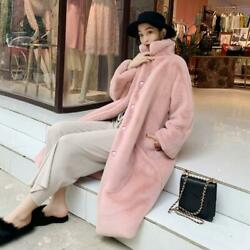 Womens Loose Hairy Faux Mink Velvet Overcoat Winter Warm Thick Fashion Outerwear
