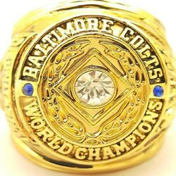 1958 Baltimore Colts Football Nfl Super Bowl 18k Gold Plated Championship Ring
