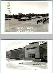 2 Rppc Postcards Great Lakes Il Saturday Review Electronic Tech Bldg. 1950