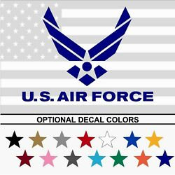 Us Air Force Usaf Emblem Army Military Vinyl Decal Sticker Pick Size Color