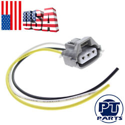 Gray 3-way Connector Plug For Toyota Turn Signal Headlight With Tefzel Pigtails