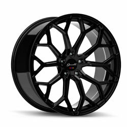 20 Gianelle Monte Carlo Black 20x8.5 Concave Wheels Rims Fits Toyota Camry