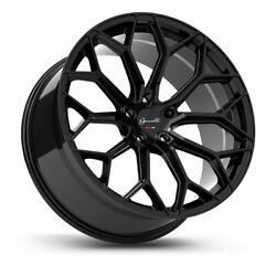 20 Gianelle Monte Carlo Black 20x8.5 20x10 Wheels Rims Fits Ford Mustang Gt